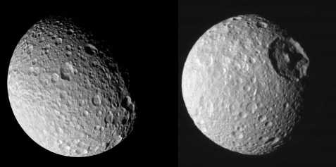 Mimas Front and Back