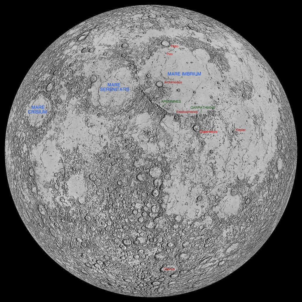 Lunar Features Named